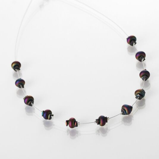 Spectrum Nuggets Spaced Necklace