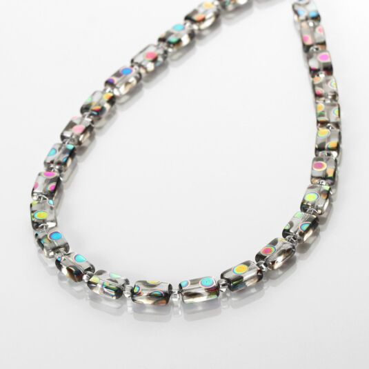 Clear Dotty Rectangle Full Necklace
