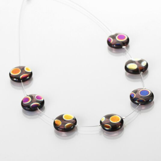 Purple Dotty Puddles Necklace