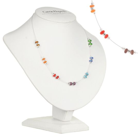 Rainbow Rings & Barrels Necklace