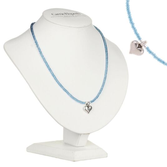 Blue Heart Strings Necklace