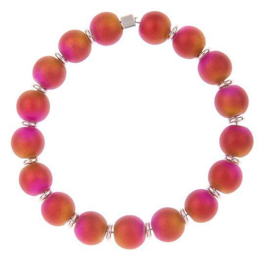 Pink & Gold Spheres Bracelet