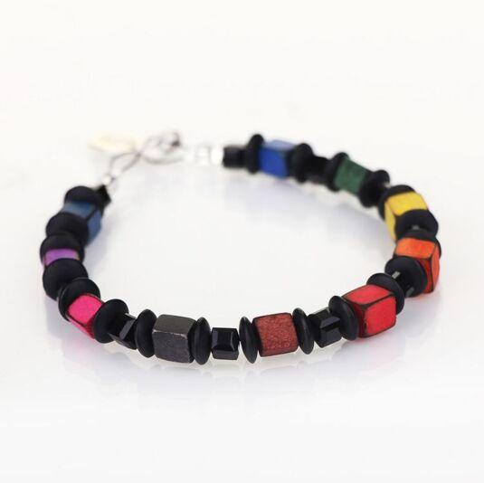 Rainbow Allsorts Links Bracelet