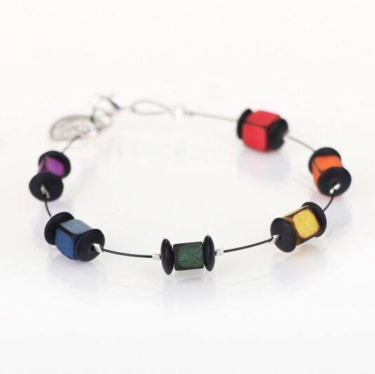 Rainbow Allsorts Spaced Bracelet