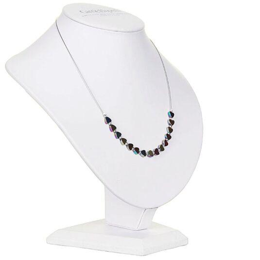 Rainbow Hearts Hematite Necklace