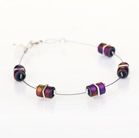 Rainbow Infinity Spaced Bracelet