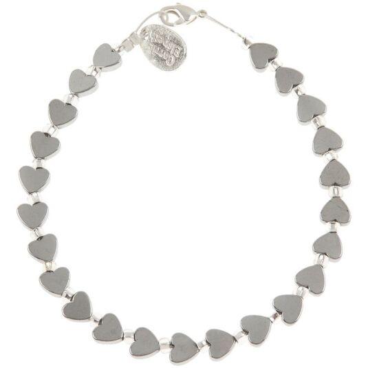 Mini Hematite Heart Bracelet