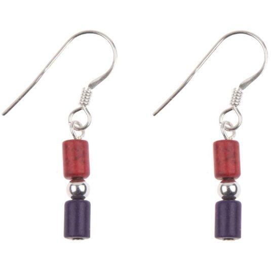Galleria Red/Purple Earrings