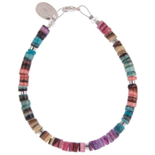 Rainbow Shell Shimmer Bracelet