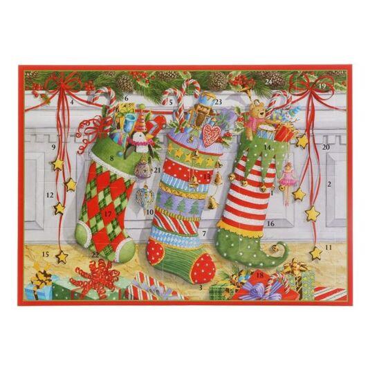 Christmas Stockings Advent Card