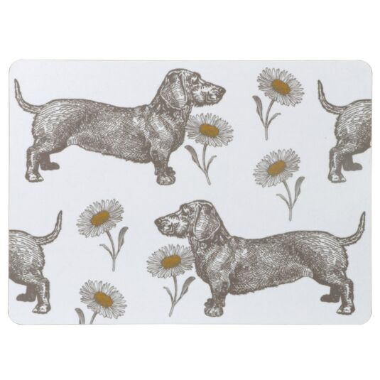 Dog & Daisy Set of 4 Placemats