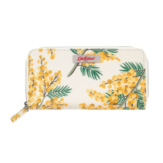 Mimosa Flower Continental Zip Wallet