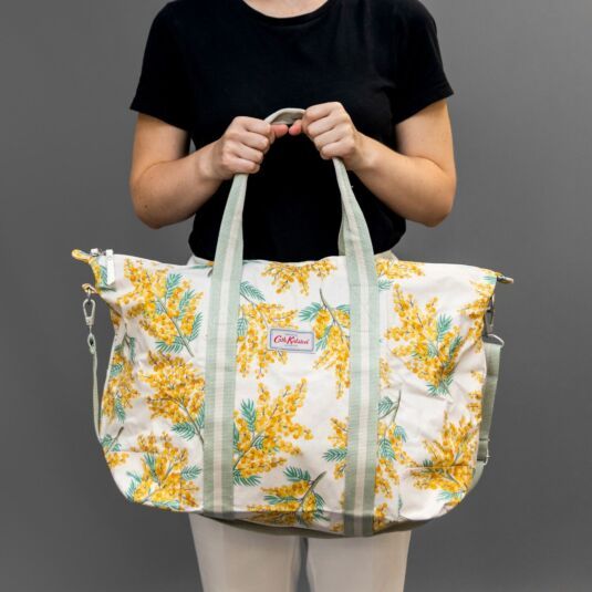 Mimosa Flower Foldaway Overnight Bag