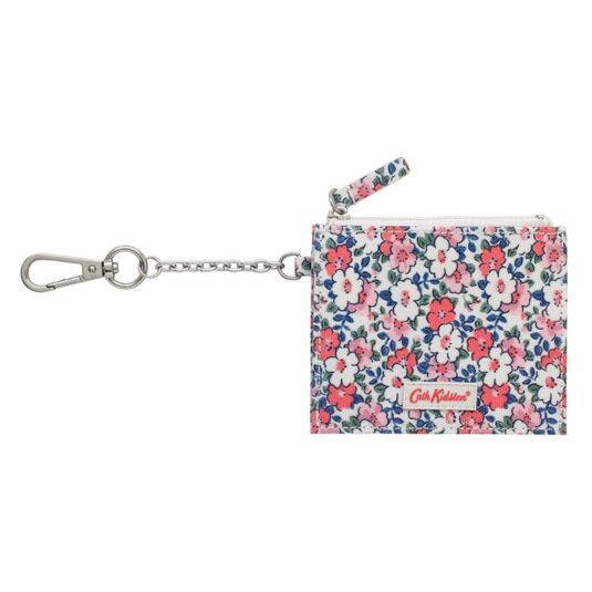 Meadowfield Ditsy Rose Side Pleat Purse with Key Chain