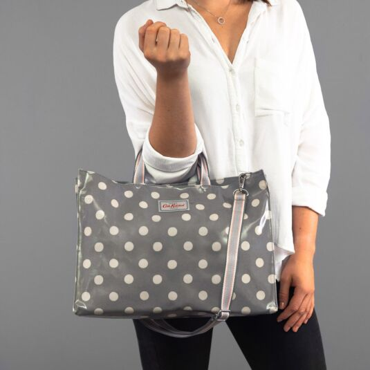 Button Spot Strappy Carryall