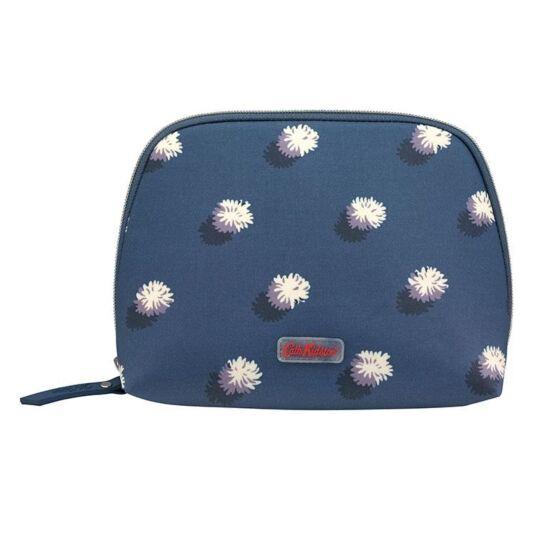 Pom Pom Spot Curved Top Cosmetic Bag