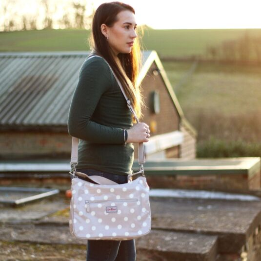 Button Spot Curve Shoulder Bag