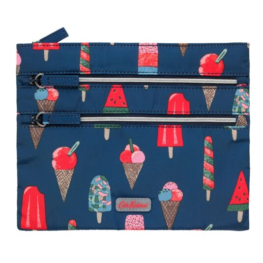 Ice Cream Triple Zip Case