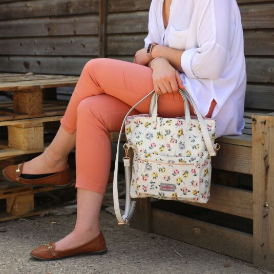 Button Rose Reversible Cross Body Bag