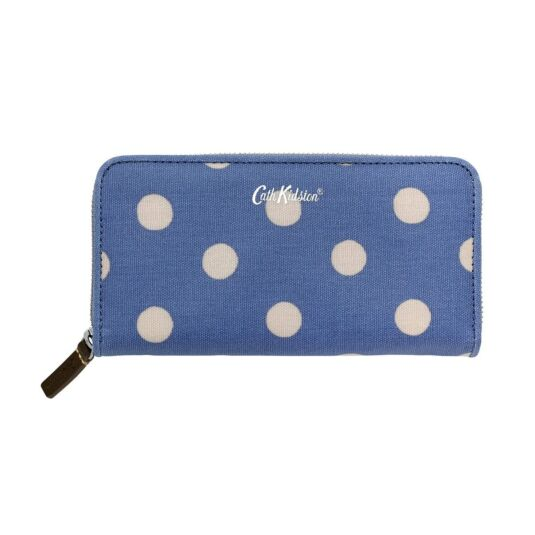 Button Spot Continental Zip Wallet