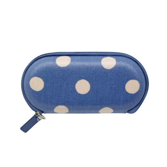 Button Spot Zip Around Glasses Case