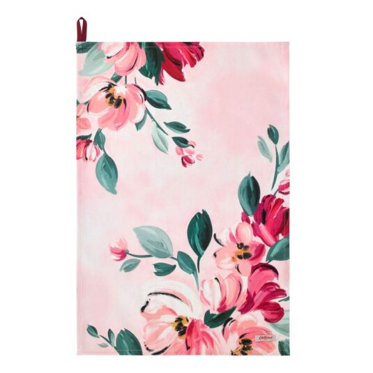 Paintbox Flowers Tea Towel