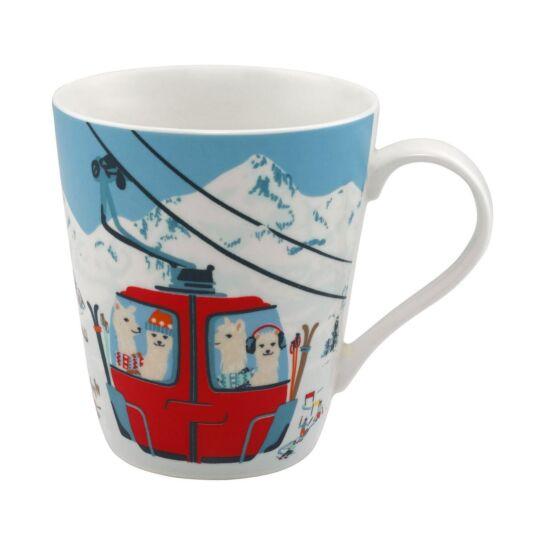 Snowy Glacier Scene Stanley Shaped Mug
