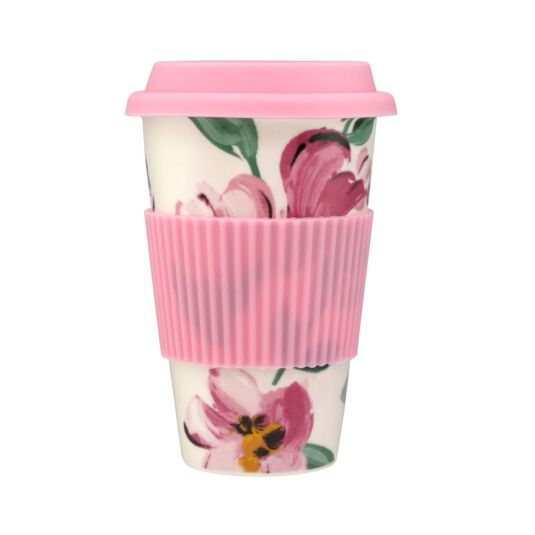 Paintbox Flowers Ceramic Boxed Travel Mug