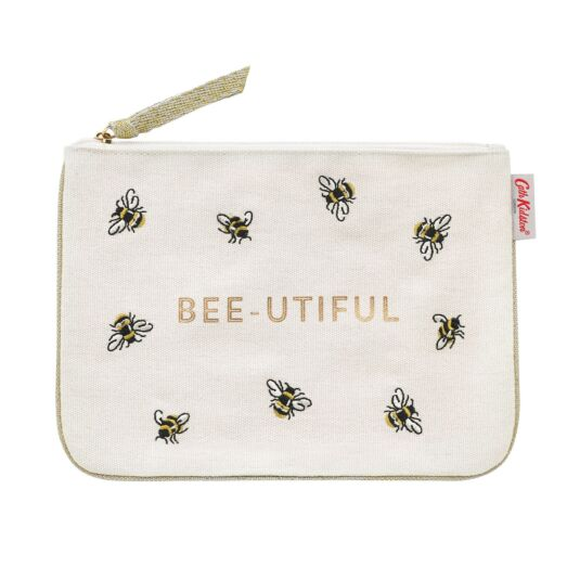 Bumble Bee Cotton Zip Purse with Trim