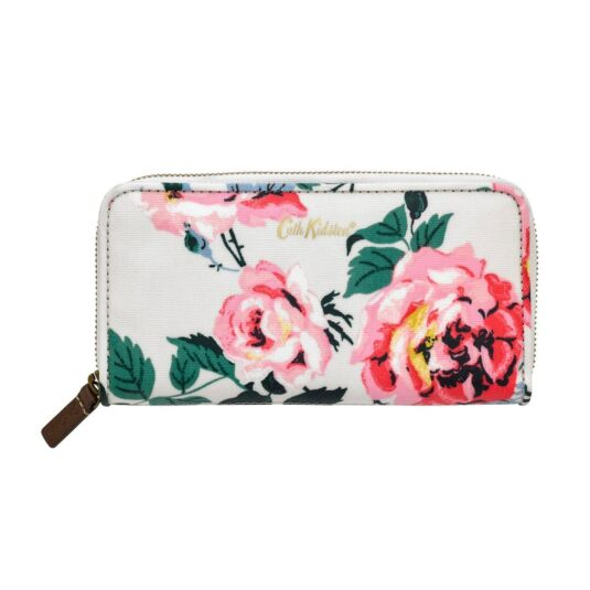 Eiderdown Rose Continental Zip Wallet