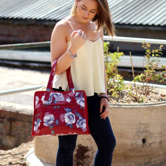 Mid Wild Poppies Large Pandora Bag