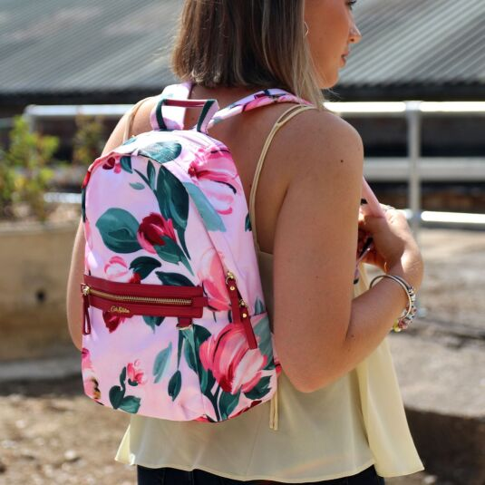 Large Paintbox Flowers Aster Backpack