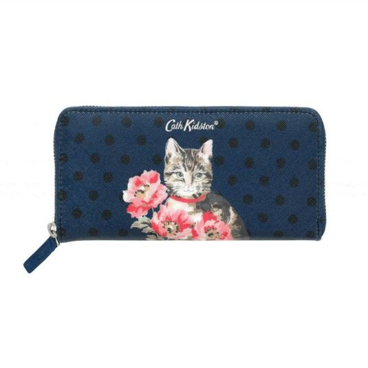 Cat & Flowers Continental Wallet