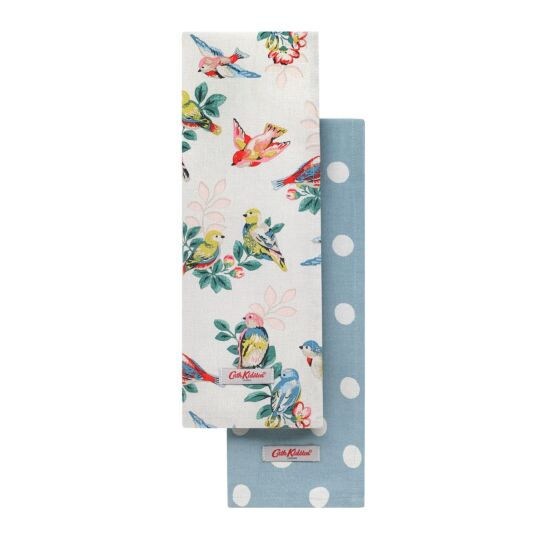 Spring Birds Set of Two Tea Towels
