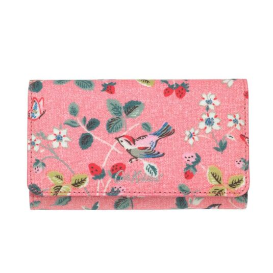 Birds & Berries Medium Foldover Wallet