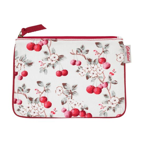 Cherry Sprig Cotton Zip Pouch