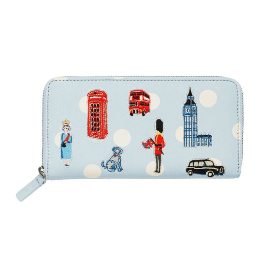 Mini London Icons Applique Continental Wallet