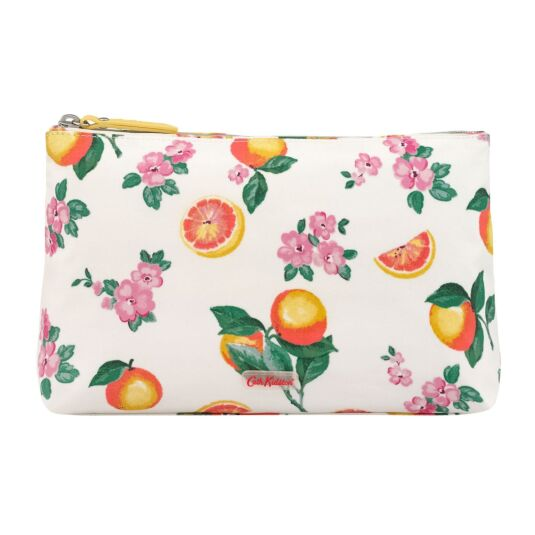 Grapefruit Bloom Matte Zip Cosmetics Bag