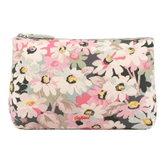 Painted Daisy Matte Zip Cosmetics Bag