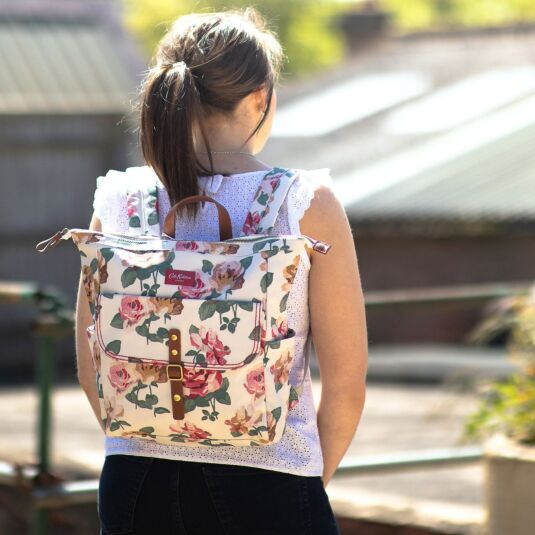 Chiswick Rose Canvas Backpack
