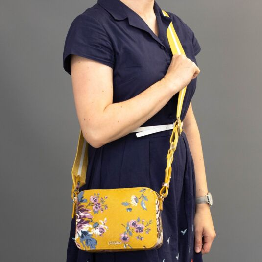 York Flowers Lozenge Cross Body Bag