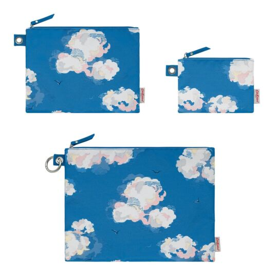 Clouds Set of 3 Pouches