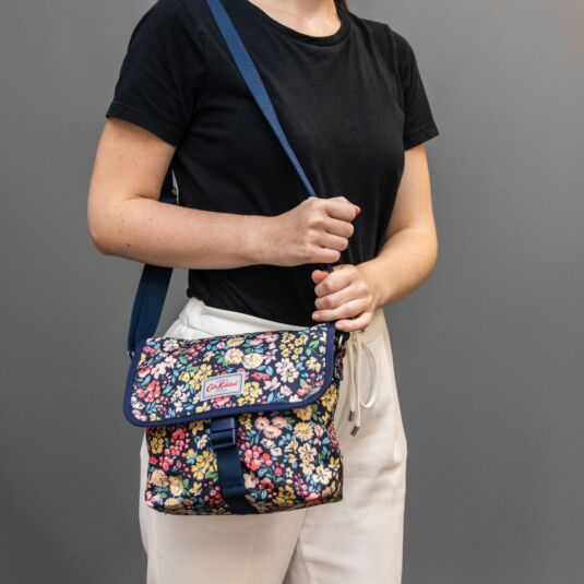 Flower Meadow Buckle Cross Body Bag