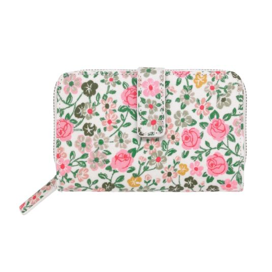 Hedge Rose Folded Zip Wallet