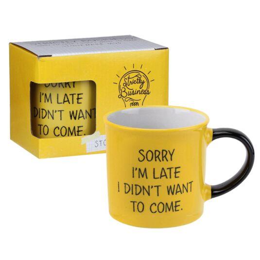 Strictly Business 'Sorry I'm Late' Boxed Mug