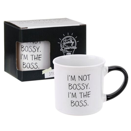 Strictly Business 'I'm The Boss' Boxed Mug