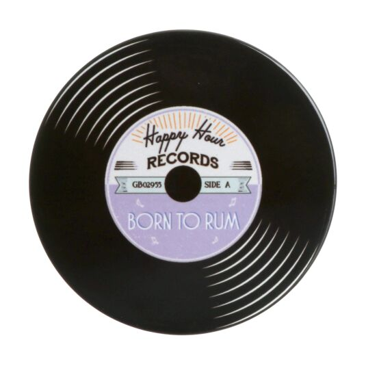 'Born to Rum' Record Coaster