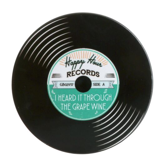 'I Heard It Through the Grape Wine' Record Coaster