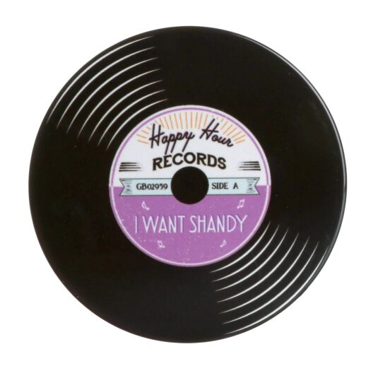 'I Want Shandy' Record Coaster