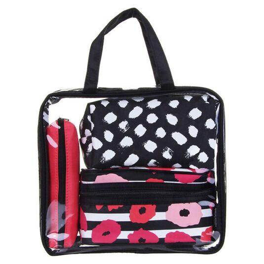 Poppy Stripe Four Piece Bag Set